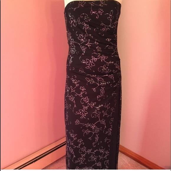 Taboo Dresses | Beautiful Full Length Strapless Semiformal Gown ...